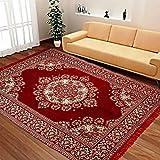 Vram Floral Carpet (Maroon, Velvet, 3 x 5 Feet).
