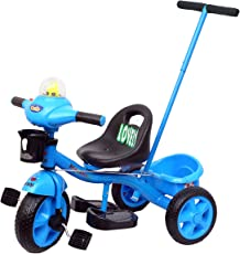 Luusa Tricycle Lovely Bike for Kids with Musical Horn(Blue)