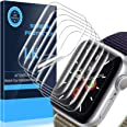 LK 6 Pack Screen Protector Compatible with Apple Watch Series 6 Series 5 Series 4 44mm, Max Coverage, Compatible with iWatch