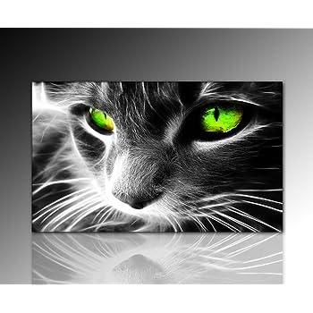 Wandbild Xxl (Black Cat 60x100 Cm) Deko Bild Auf Leinwand. Ausführung  Schöner Kunstdruck
