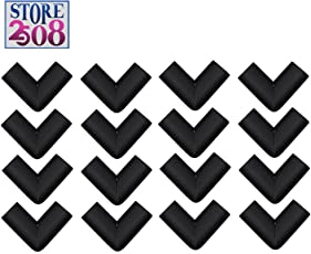Store2508® Corner Guards for Child Infant Safety with Special Fibreglass Tape with Silicon Adhesive & Instructions (16 Pcs) (Black)