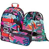 Schulrucksack Set Mädchen 3 Teilig, Schultasche ab 3. Klasse, Grundschule Ranzen mit Brustgurt, Ergonomischer…
