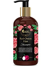 Oriental Botanics Red Onion Hair Growth Shampoo, 300ml - With Biotin, Argan Oil, Caffeine, Protein, 27 Hair Boosters Controls Hair Loss & Promotes Healthy Hair Growth