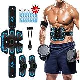 Electroestimulador Muscular Abdominales EMS Estimulador Abdominales USB 3 in 1 Recargable Estimulación Muscular Masajeador El