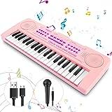 Magicfun Mini Teclado Electrónico Piano Juguete, 37 Teclas Teclado Piano con Micrófono, Sonidos de Animales, Batería y Tempo,