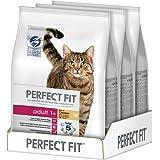 Perfect Fit Cat Adult 1+ Kattenvoer, Droogvoer, Kip, 3 x 2,8 kg