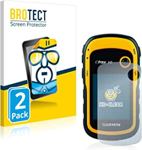 BROTECT Schutzfolie kompatibel mit Garmin eTrex 10 (2 Stück) klare Displayschutz-Folie