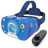 DESTEK V5 Casque VR pour enfants, lunettes de réalité virtuelle 3D pour jouer à des jeux téléphoniques, films 3D