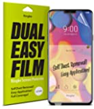 Ringke Dual Easy Full Coverage Screen Protector for LG V40 High Resolution [Anti-Smudge Coating] Easy Application Case…