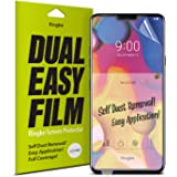 Ringke Dual Easy Full Coverage Screen Protector for LG V40 High Resolution [Anti-Smudge Coating] Easy Application Case Friend