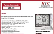 HTC Instrument 288-ATH Digital Indoor Outdoor Hygro Thermometer with Clock