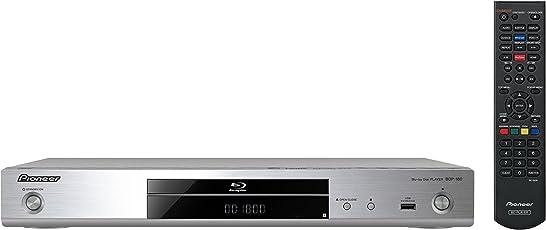 Pioneer Blue-ray Player, BDP-180-S, Wiedergabe von Blue-ray Discs, DVD, CD/CD-R/CD-RW und SACD, YouTube-Streaming-Client, 4K-UltraHD Upscaling, WLAN, USB, Miracast, DLNA zertifiziert, Silber, 1024558