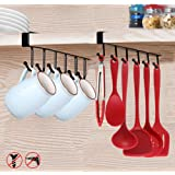 2pcs Tasse Tasses à Verres de Rangement Crochets Ustensiles de Cuisine Cravates Ceintures et écharpe Accrocher porte-rack Cro