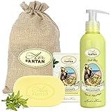 Coffret Cadeau Femme: Verveine De PROVENCE Par Un Air d'Antan/ 1 Savon Huile Argan Bio 100g Et 1 Creme Hydratante 200ml/ Fait