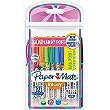 Paper Mate, InkJoy 100 - Penna a sfera con cappuccio, punta media Lot de 10 Candy Pop Décorés