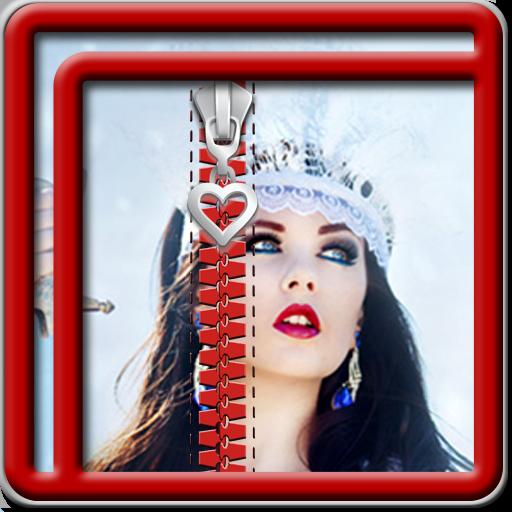 Zipper Lock Screen Princess -
