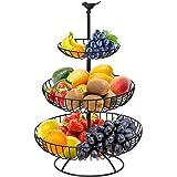 Corbeille à fruits en métal à 3 niveaux, panier à fruits, panier de rangement, panier à pain et panier à fruits dans votre cu