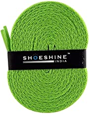 SHOESHINE Flat Sport Shoelace Canvas Sneaker or Casual Shoe Lace for Athletic Shoes (3 Pairs of Same Color in Different Sizes)