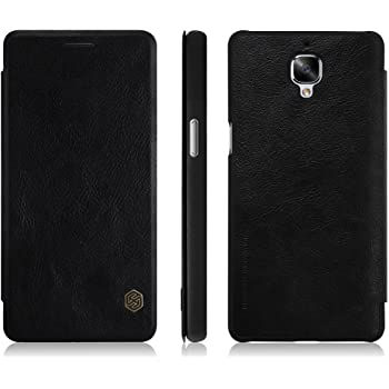 the latest 897b5 f2040 TopAce High Quality Leather Case Flip Cover For OnePlus 3 / OnePlus 3T  (Black)
