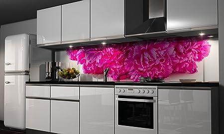 Küchenzeile pink  Küchenrückwand Folie selbstklebend Spritzschutz Fliesenspiegel ...