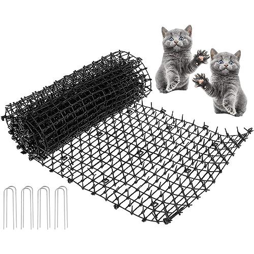N/U Tappetino Anti-Gatto,Tappetino Cat Scat Tappetino deterrente per Cani con Picchi Rete Anti-Gatto Tappo di scavo Strumenti di Protezione da Giardino Dispositivi deterrenti, Nero,200X28CM