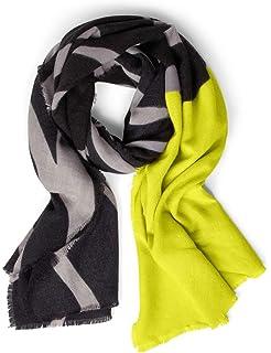 WEIJIN Schal Big Size Schals Strandtuch Weibliche T/ücher und Schals Frauen Neongelb Farbe Plaid Schal