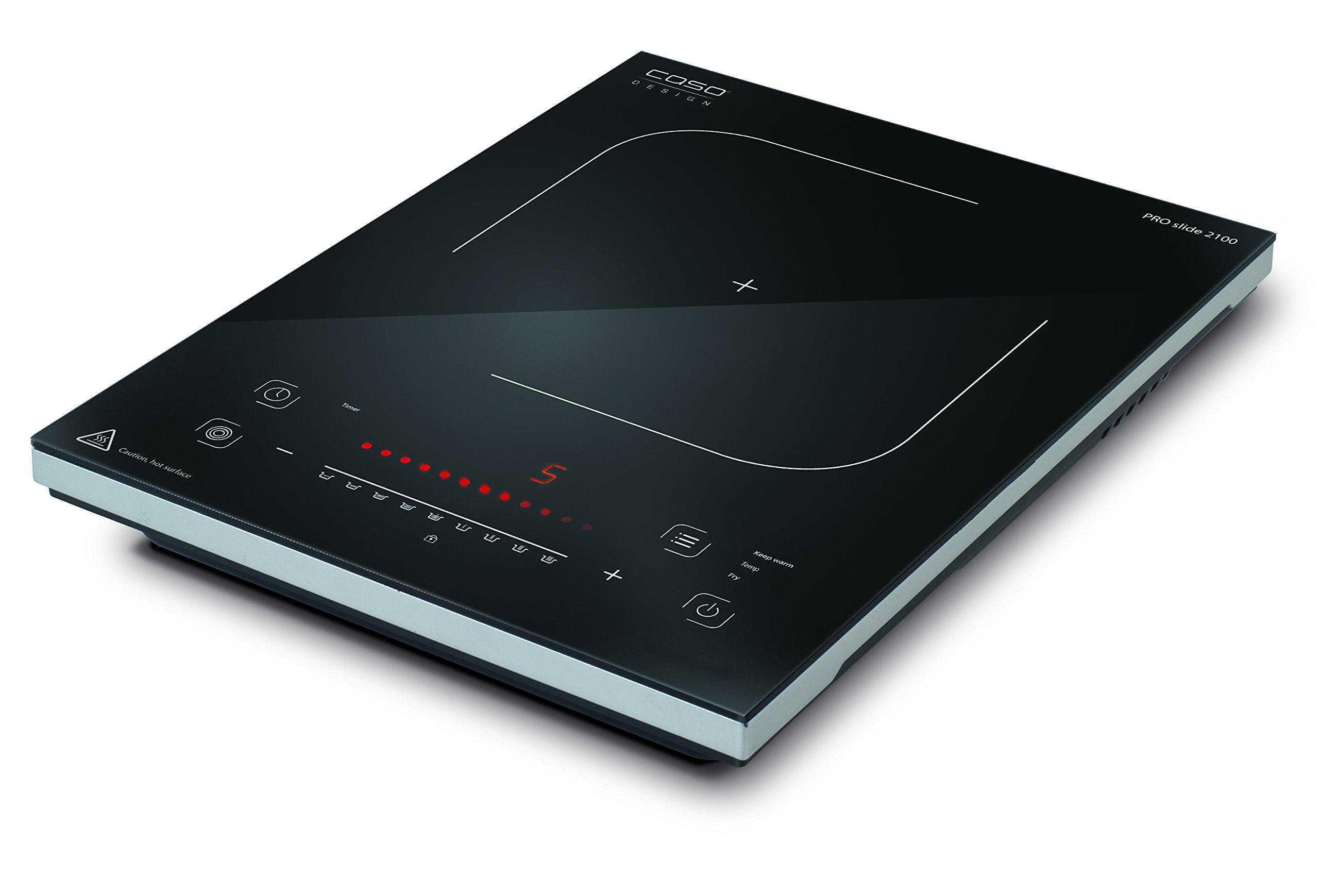 Caso PRO Slide 2100 Tabletop Ceramic Black - hobs (Tabletop, Ceramic, Glass-ceramic, Black, Sensor,