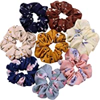 Drishti® Elastic Cottin fabric Hair Bands Scrunchy for Women or Girls Hair Accessories, Multicolor