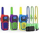 woktokWalkie Talkie para Niños3 Pcs 8 Canalesy 9 Baterías Recargables Función VOX LCD Pantalla, hasta 5 KM en Area Abierta