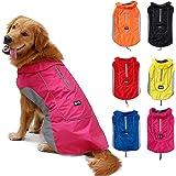 TFENG Reflektierend Hundejacke für Hunde, Wasserdicht Hundemantel Warm Gepolstert Puffer Weste Welpen Regenmantel mit…