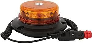 Adluminis Led Rundumleuchte Orange Verschiedene Ausführungen Für 12v Und 24v Spannung Blinkleuchte Warnleuchte Für Straßenverkehr Kfz A Micro Mit Magnetfuß Auto