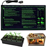 RINBO Seedling Heat Mat, Heating Mat Heated Propagator, Hydroponic Seedling Reptile Plant for Indoor Outdoor Gardening Greenh