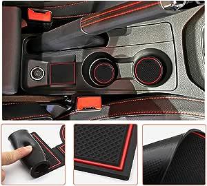 Lfotpp Seat Ibiza Arona Gummimatten Gummi Matten Antirutschmatten Für Getränkehalter Mittelkonsole Armlehne Türschlitz 9 Stücke Auto