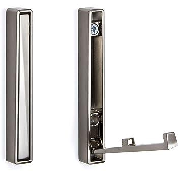 Chrom poliert 140 x 16 mm SO-TECH Moderner Klapphaken Garderobenhaken Kleiderl/üfter Zilly zum Einlassen