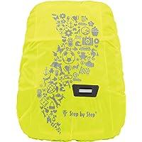 Step by Step Regen- und Sicherheitshülle, gelb, reflektierend und wasserdicht, geeignet für Step by Step Kid Rucksack…