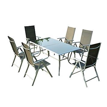 Amazon.de: Outsunny® 7-tlg Sitzgarnitur Sitzgruppe Gartengarnitur ...
