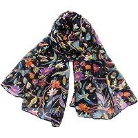 Animal Hummingbird Sun Flower Print Scarfs Women Long Wrap Shawl Scarves By Clest F&H