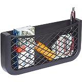 HR Universeel opbergnet voor de auto, 25 cm, nettas voor het opbergen en sorteren in de bestuurdersruimte, zwart opbergvak va