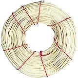 Rayher Hobby 6502800 Peddigrohr, natur, 1A Rotbandqualität, 3 mmø, Nr.8, Rolle 125 g (ca. 35 m), Flechtrohr, Flechtmaterial