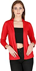 IN Love Women/Girl's Cotton Formal Stylish Shrugs with Pocket & Full Sleeves (Assorted) (Medium -3XL)