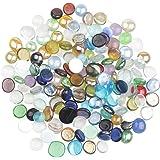 YiYa Color Mezclado Gema de Vidrio Piedras de Cristal Piedra Preciosa de Vidrio para la decoración del hogar llenado de jarro