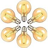 Ampoule LED E27, Orelpo Lot de 6 Ampoules Edison Vintage 6W (Équivalent à 60W), 2700K, LED Filament Blanc Chau, Lampe Décorat
