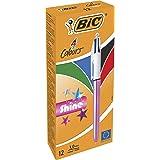 BIC 9513524Colours Shine Kugelschreiber, metallic pink Body (12Stück)