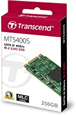 "Transcend TS256GMTS400S M.2 400S-Serie mit Hochwertigem""MLC NAND"" Flash 256GB""M.2-SSD M.2 SATA III"""