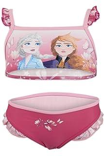 Prodotto Originale con Licenza Ufficiale Disney Frozen 2 Bambina Costume Bikini 2 Pezzi Mare Piscina