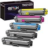 خرطوشة حبر متوافقة مع RETCH لطابعة Brother TN221 TN225 TN-221 TN-225، تستخدم مع MFC-9130CW HL-3170CDW HL-3180CDW MFC-9330CDW