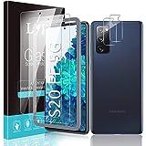 LϟK 4 Pièces Verre Trempé pour Samsung Galaxy S20 FE 5G / 4G et S20 Fan Edition et avec 2 Pièces Protection Écran + 2 Pièces