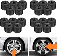 AST Works 20pc 17mm Wheel Nut Lug Bolt Cap Cover for VW Passat Golf Polo Tiguan Jetta Audi