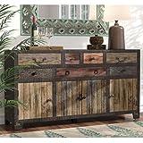 JAE Wooden Antique Sideboard | Wooden Cabinet for Living Room | Cabinet for Storage Wooden Furniture | Walnut Finish
