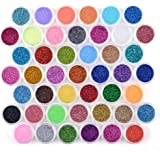 QIMEIYA 45 Potten Shinning Glitter Poeder Set Glanzende Kleurrijke Chrome Stof Pigment Nail Art Manicure Make-up Regenboog Au